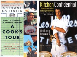 2 Book Set By Anthony Bourdain; a Cook's Tour; Kitchen Confidential