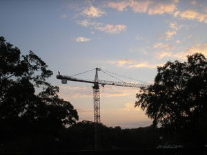 Cloud art + crane