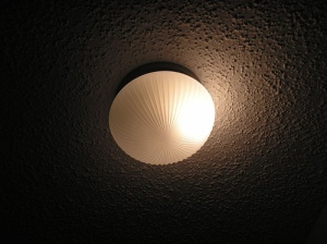 Ecological lightbulb looks funny