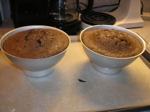 Cake in pans