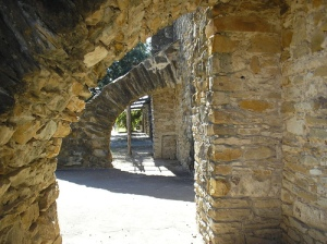 Mission San Jose: granary arches