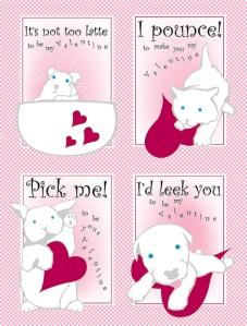 Pink School Valentines