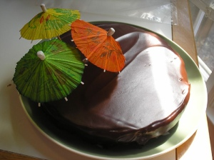 Flourless chocolate cake w/ ganache