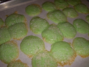 Green cookies full of fail