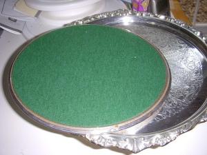 Clean green felt