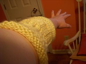 Arm warmer warms arm