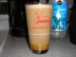Syrup + milk + seltzer