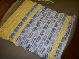 Actual knitting