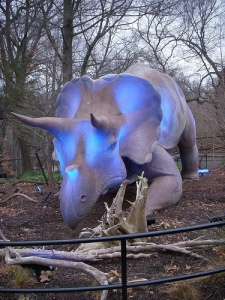 Triceratops in blue