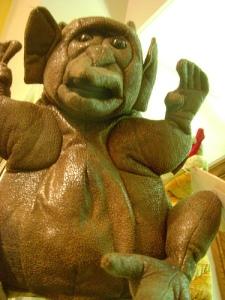 """Gargoyle puppet says """"Rowr!"""""""