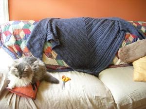 Teh big awsum blue shawl