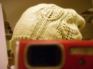 A green hat
