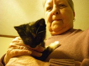 Kelly has a new kitten