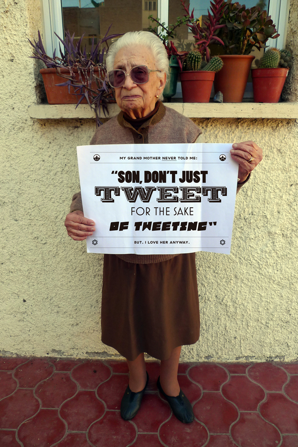 Grandmotherly advice + typography